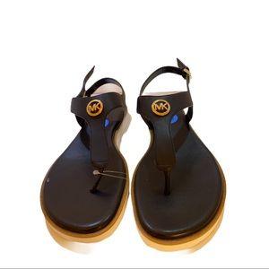 Michael Kors New size 7.5 Black Leather Sandals